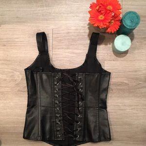 Vaacodor Intimates & Sleepwear - Pleather Corset